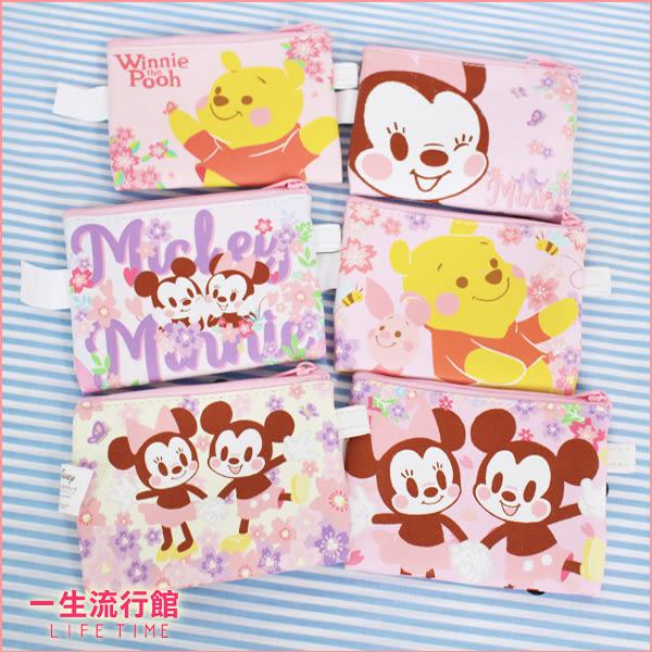 【限量】迪士尼 櫻花米奇米妮 櫻花維尼小豬 正版 零錢包 小物收納包 小方包 B10201