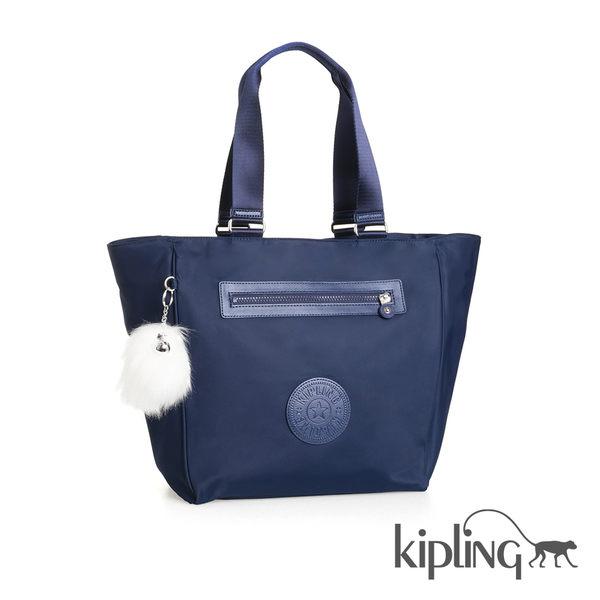 Kipling 太空藍素面手提包-大