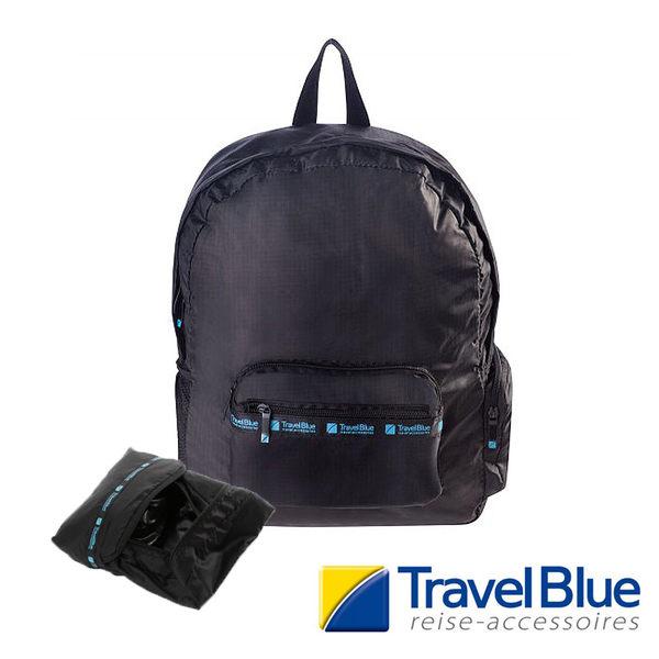 英國Travel Blue藍旅 FoldingRuckSack折疊式背包 深藍色 TB050A 戶外|休閒|旅遊|露營|背包|收納包