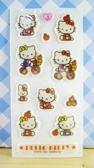 【震撼精品百貨】Hello Kitty 凱蒂貓~KITTY閃亮貼紙-腳踏車