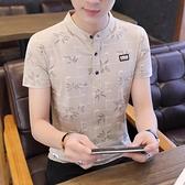 夏季新款男士短袖t恤純棉襯衫領半袖polo衫青年潮流大碼男裝上衣 有緣生活館