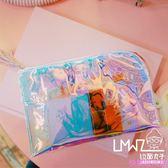 拉面丸子卡通可愛小清新鐳射透明軟妹收納果凍包便攜創意女化妝包