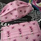 口罩 粉紅口罩一次性草莓熊卡通印花圖案防霧霾無紡布三層時尚潮流情侶 阿薩布魯