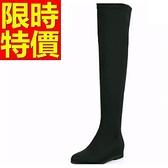 過膝馬靴-舒適甜美皮革女長靴62l28【巴黎精品】