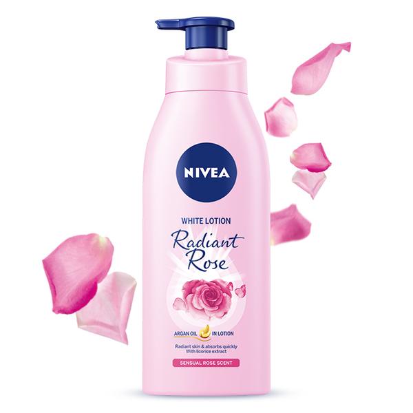 妮維雅 粉嫩嫩潤白水凝乳- 玫瑰香 350ml
