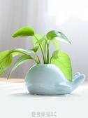 創意鯨魚大象青瓷小花瓶 家居水培陶瓷擺件 茶道花插時尚個性花器YTL 皇者榮耀