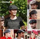 廚師帽 貝雷帽 前進帽 男 checkedout餐廳工作帽 女 廚師工作帽