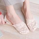 蕾絲襪子 蕾絲船襪女淺口夏季薄款襪子女透氣隱形襪不掉跟硅膠防滑低幫襪子-Ballet朵朵