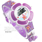 SKMEI時刻美 小花造型 兒童電子手錶 女孩 繽紛印花玩具錶 SK1144紫