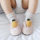 兒童純棉襪春夏新款新生兒點膠學步寶寶地板襪0-1-3歲嬰兒襪子