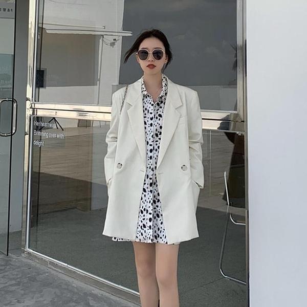 秋季氣質白色西裝外套女秋裝年新款韓版寬鬆夏薄款小西服上衣 【全館免運】