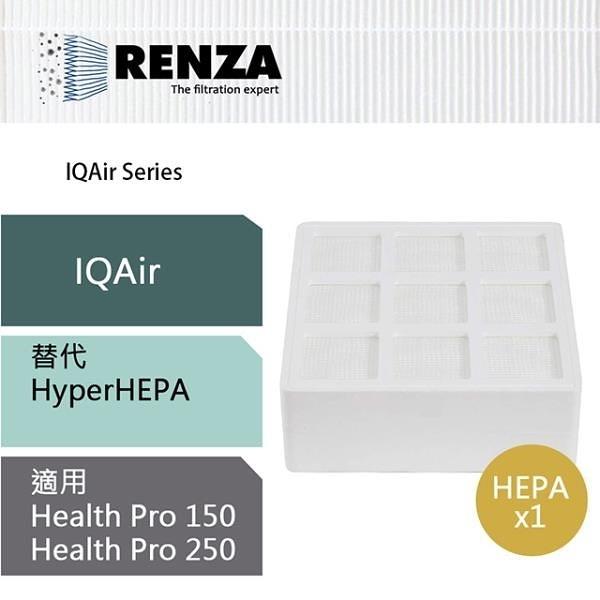 【南紡購物中心】RENZA濾網 適用IQAir Health Pro 150 250 Allergen100 可替換原HyperHEPA