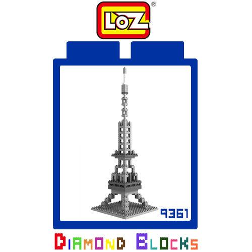 摩比小兔~ 破盤下殺折扣 LOZ 鑽石積木 9361 巴黎鐵塔 建築系列 益智玩具 趣味 腦力激盪 正版積木