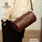 斜背包原創新款單肩斜挎包小垮包男女挎包胸包皮包小包個性便捷手機包 陽光好物