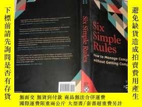 二手書博民逛書店Six罕見Simple Rules: How to Manage