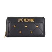【MOSCHINO】Love Moschino 菱格皮革長夾(P0000黑色)