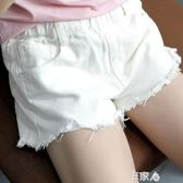 女童牛仔短褲洋氣寶寶薄款外穿褲子/E家人
