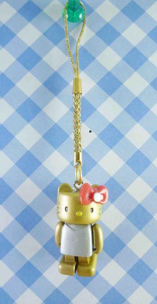 【震撼精品百貨】Hello Kitty 凱蒂貓~樂高手機吊飾-金臉銀