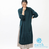 ❖ Winter ❖ 【SET ITEM】落肩針織洋裝+腰際鬆緊百摺長裙 - earth music&ecology