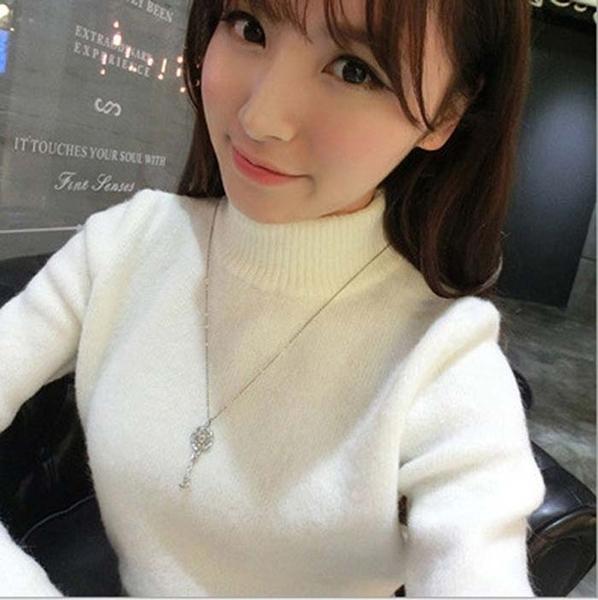 高領 毛衣 針織衫  修身 韓版 女毛衣
