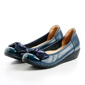 GREEN PINE 華麗水鑽蝴蝶裝飾娃娃鞋-藍色