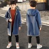 兒童外套 男童秋冬裝中長款毛呢外套兒童中大童韓版洋氣呢子大衣潮
