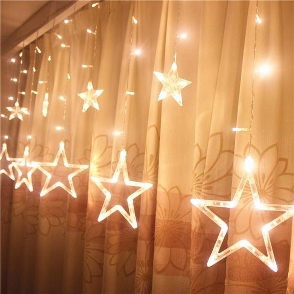 led星星燈小彩燈閃燈串燈滿天星窗簾掛燈臥室浪漫房間網紅裝飾燈 ATF 夏季特惠