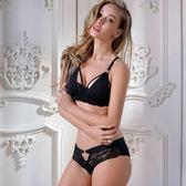 蕾絲內衣套裝(胸罩+內褲)-歐美超薄調整型半罩性感內衣3色73ho87[時尚巴黎]