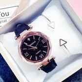 現貨-女士手錶防水時尚新款韓版簡約休閒大氣復古夜光星空石英女錶W12