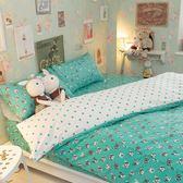 Tiffany dog S1單人床包2件組 四季磨毛布 北歐風 台灣製造 棉床本舖