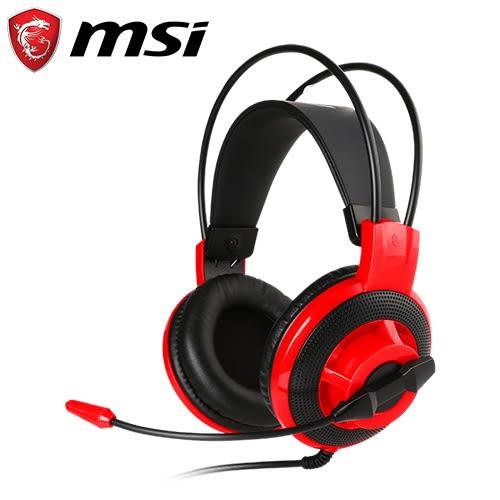 MSI 微星 DS501 玩家級線控電競耳機麥克風【限時省$191 加碼送電競撲克牌】