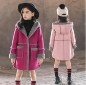 女童毛呢外套 胖女孩毛呢外套中長款女童秋裝新款洋氣上衣韓版7歲冬季大童 麗人印象 免運