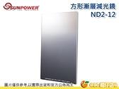 送旋轉支架 SUNPOWER TOP1 SPUC-ND312 ND2 - ND12 方形漸層減光鏡 玻璃 多層鍍膜 台灣製 公司貨