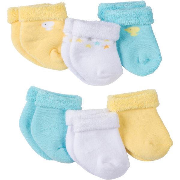 嬰兒襪 Gerber Childrenswear 嬰兒襪 / 襪子 超值6件組 - 藍黃白小鴨 5309-2038 / 5309-2039