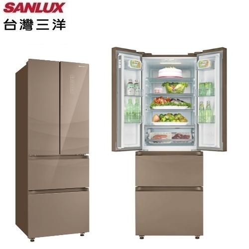 【三洋家電】312L 變頻四門對開下冷凍電冰箱《SR-C312DVGF》(尊爵棕) 全新原廠保固