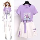 兩件式洋裝 套裝女夏裝2021閨蜜洋氣連衣裙女生學生短褲兩件套 歐歐
