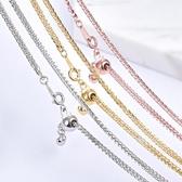銀飾鍍金項鍊女生鎖骨鍊細款50厘米可調節肖邦銀鍊無吊墜單鍊