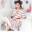 【全館8折】棉質睡衣 純棉睡裙女大尺碼孕婦夏天可外穿