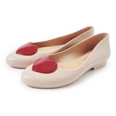 Petite Jolie 紅色果凍愛心娃娃鞋-粉膚