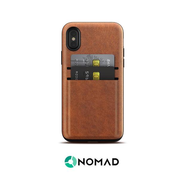 美國NOMADxHORWEEN iPhone X 卡片收納皮革防摔保護殼