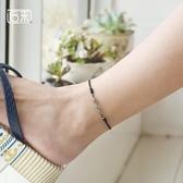 月光石腳鍊女紅繩韓版手工編織腳繩簡約復古學生森系閨蜜百搭足鍊