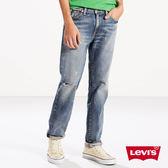 [買1送1]Levis 男款511 低腰修身窄管牛仔長褲  / 潑漆 / 硬挺厚磅