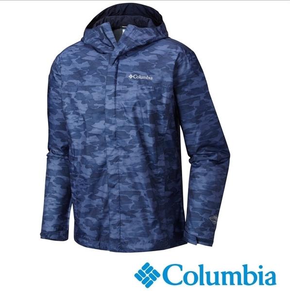 Columbia 男 OT單件式防水外套 藍迷彩 URE10010ZC【GO WILD】
