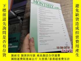 二手書博民逛書店the罕見amercian mathematical month