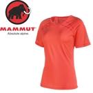 【MAMMUT 長毛象 女款 MTR71 T-SHIRT 短袖T恤《小檗紅》】07790/透氣/彈性/V領