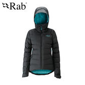 英國 RAB Valiance Down Jacket 高透氣防水連帽外套 女款 黑色 #QDN63