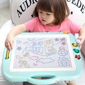 琪趣兒童畫板磁性寫字板筆彩色小孩幼兒磁力寶寶塗鴉板1-3歲2玩具 igo漾美眉韓衣