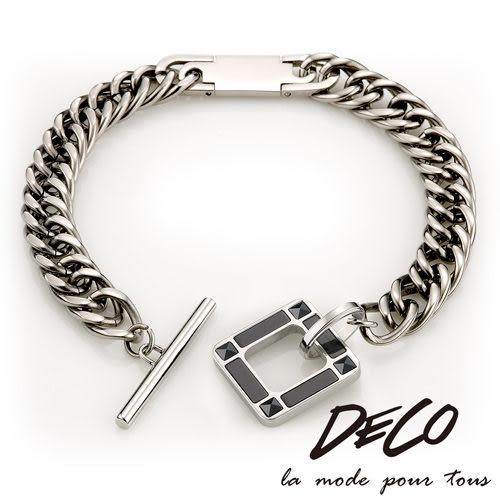 Loop 迴圈-黑 純鈦手鍊-DECO