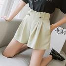 【GZ24】夏季花苞休閒A字闊腿短褲熱褲女夏裝新款高腰顯瘦寬鬆