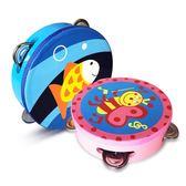 新生嬰兒寶寶玩具木質撥浪鼓搖鈴玩具3-6-12個月0-1歲男女孩益智  范思蓮恩